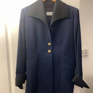 Vintage Christian Dior Suit Wool Blazer with Skirt